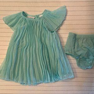 Sea foam  blue baby girls dress